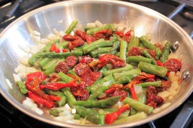 veggies for fritatta