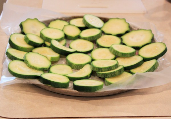 blanched zucchini ready for the freezer