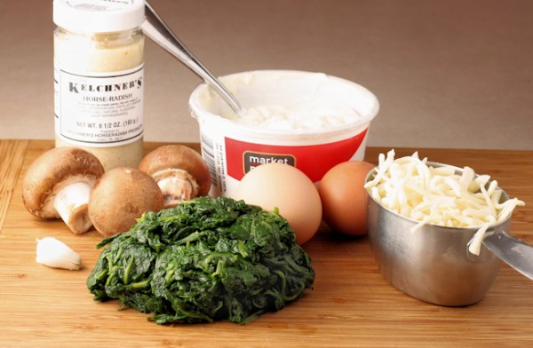 ingredients for Spinach Pie