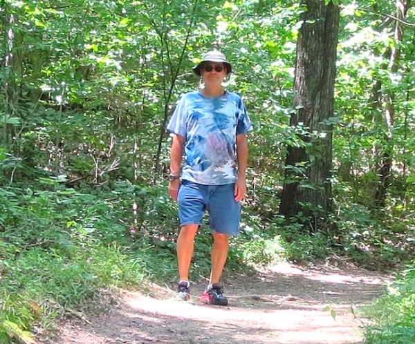 me on the trail at Lincoln State Park