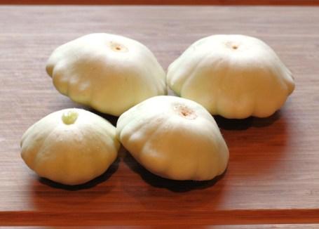heirloom  White Scallop squash
