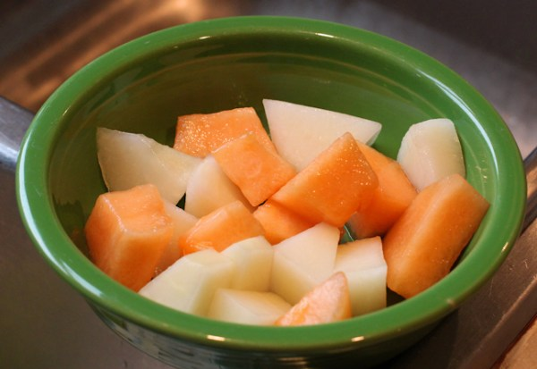 bowl of Sensation and Ambrosia melons