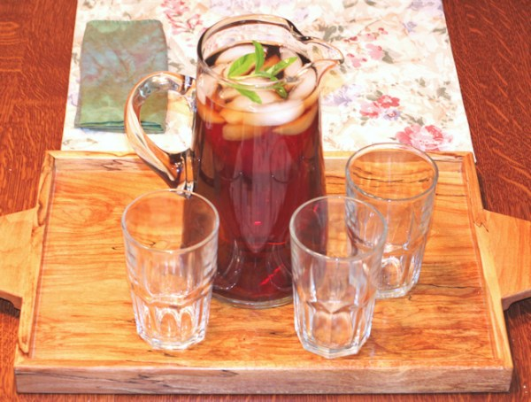 pitcher of Herb Infused Iced Tea