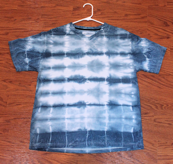 indigo dyed bamboo shirt