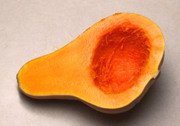 inside of Seminole squash before cooking