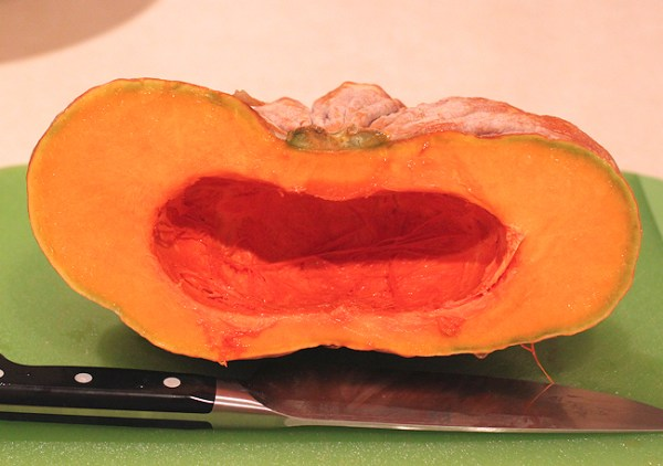 cut Rai KawTok squash showing interior