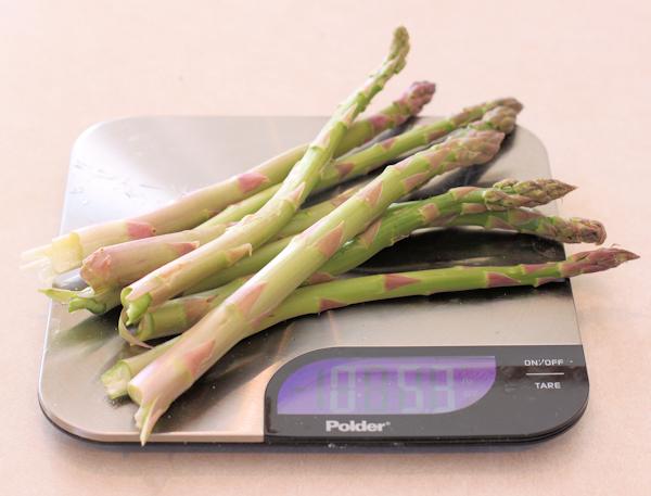 asparagus weigh-in