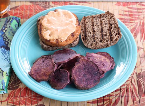 grilled Purple sweet potatoes