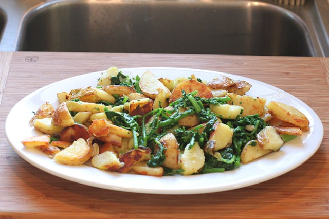 Rapi e Patate (rapini and potatoes)