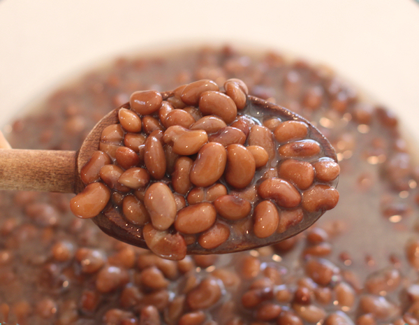 cooked Brown Tepary beans