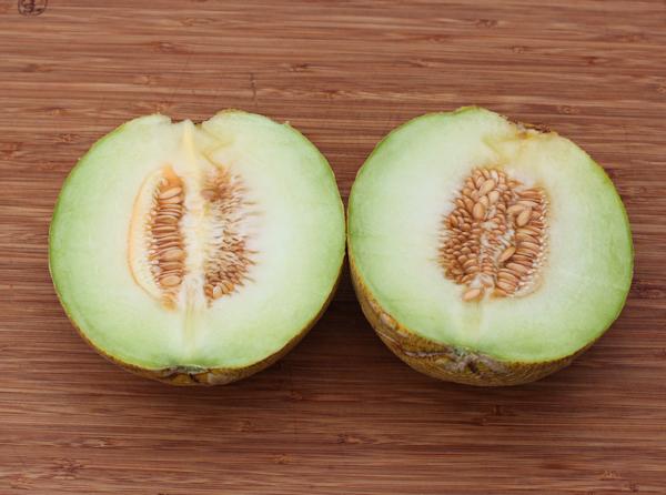 sliced Diplomat melon