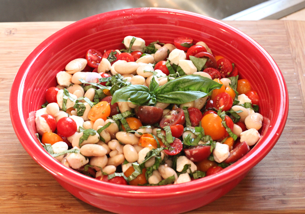 White Bean Caprese Salad