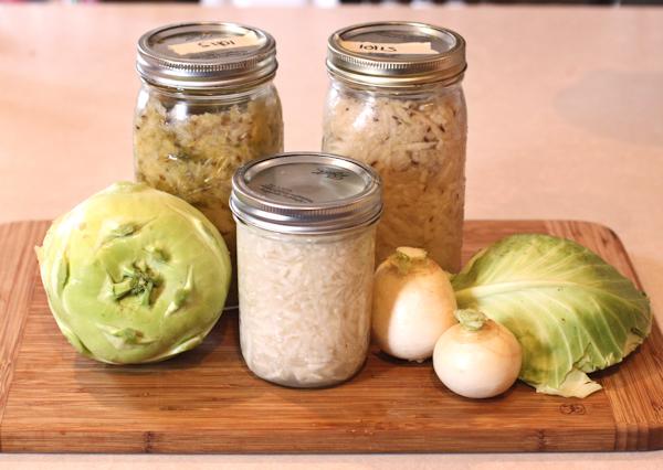 Homemade Sauerkraut, Three Ways