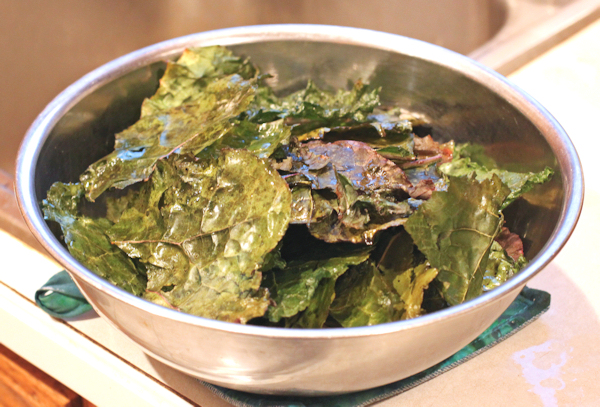 kale chips from Wild Garden Mix kale