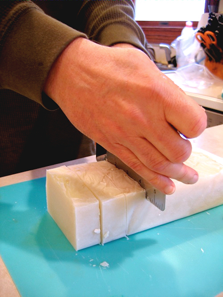 cutting our first soap back in 2010