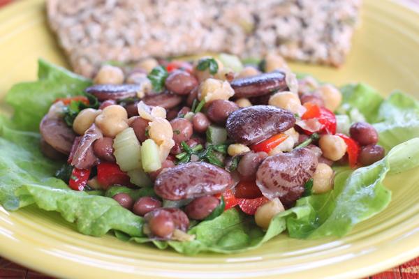 Christmas Limas in bean salad