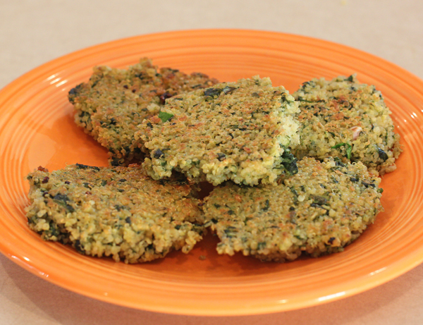 Spinach and Quinoa patties