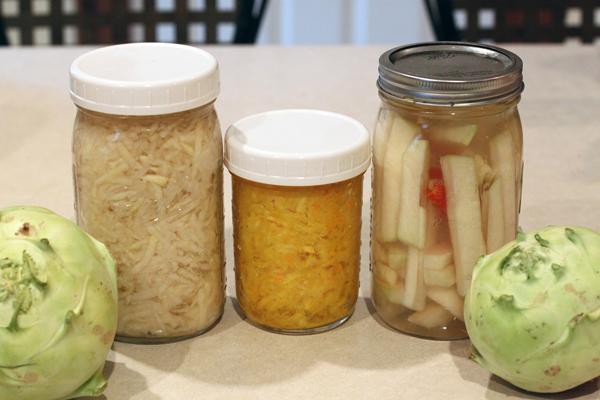 fermenting kohlrabi