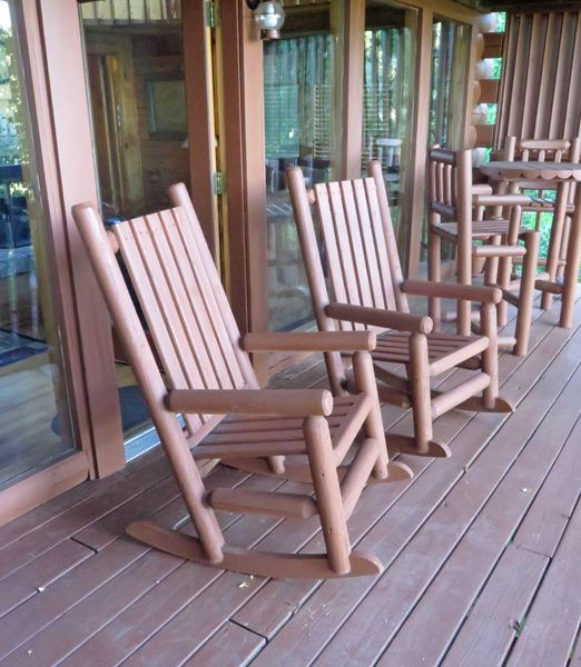 his and her rocking chairs