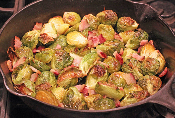 skillet roasted Brussels Sprouts