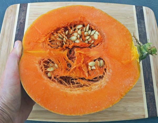 inside of Dickinson Pumpkin