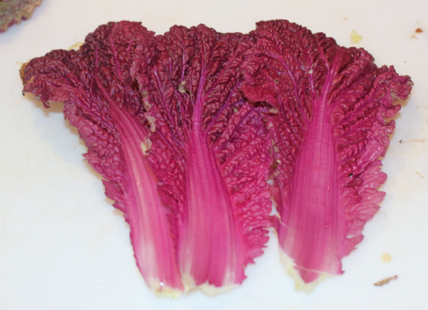 leaves of Scarlette cabbage