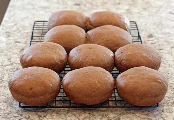 Dark Rye Potato Buns