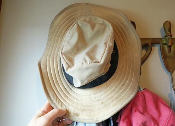 old gardening hat