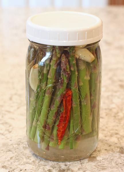 asparagus fermenting