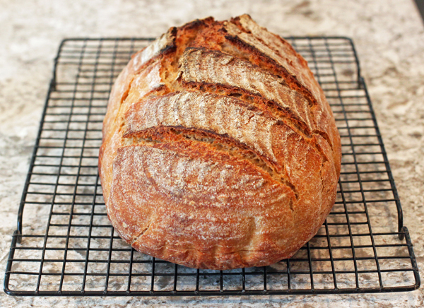 Artisan No-Knead Sourdough bread