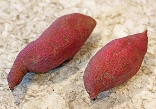 Murasaki and Red Japanese sweet potatoes