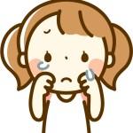 泣く小さい女の子のイラスト