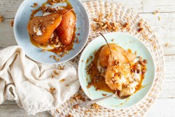 Orange-Habanero and Chai Poached Pears