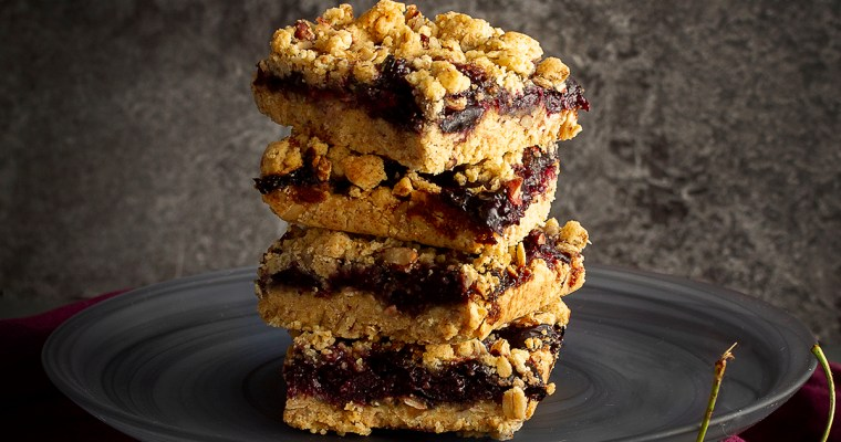 End of Summer GF Cherry Crumb Bars