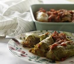 Vegan Meatless Mushroom Stuffed Cabbage Rolls