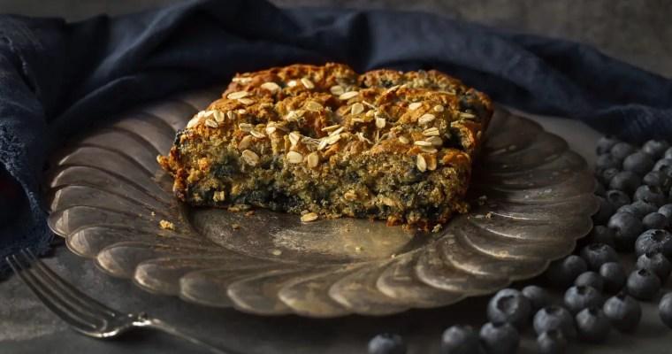 Easy Blueberry-Crammed Banana Oat Bread