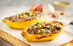 Gluten-free, Vegan & dairy free spaghetti squash boats