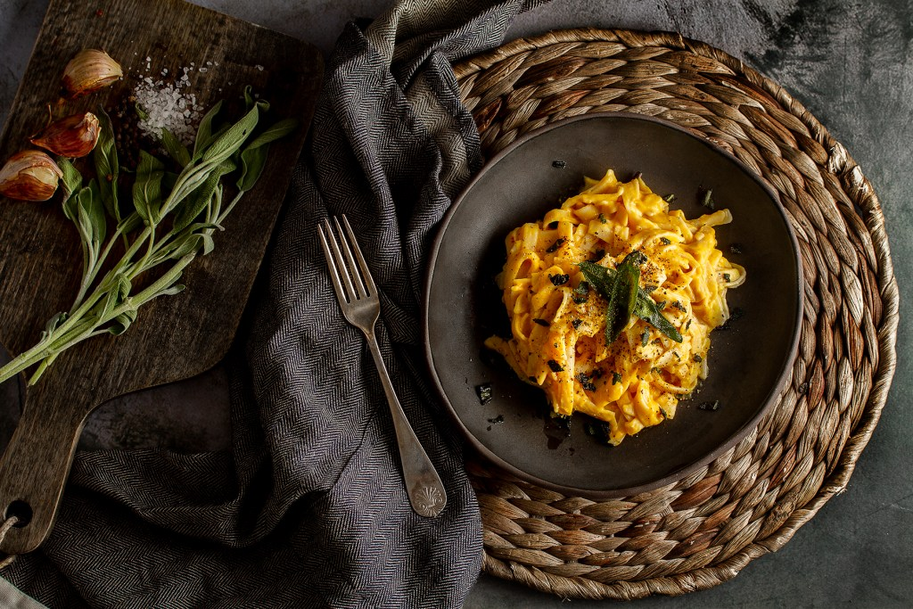 Butternut and Roasted Garlic Linguine