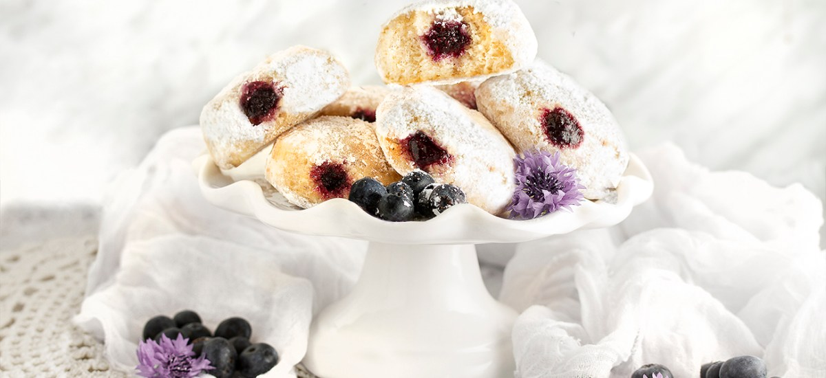 Baked Gluten-Free Blueberry Jelly Donuts