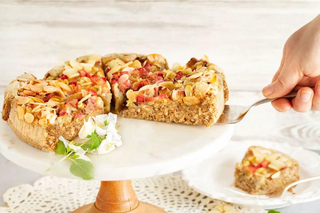 Gluten -Free Dairy-Free Vegan Rhubarb Cake