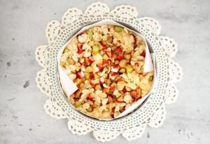 Rhubarb Cake Toppings