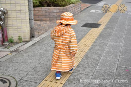 stample ボーダーレインコート 幼稚園通園 tukiusagi