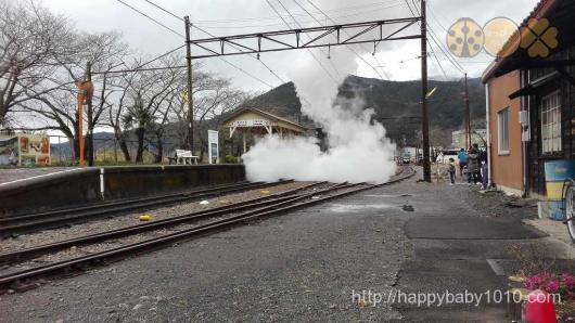 家山駅 機関車 大井川鉄道