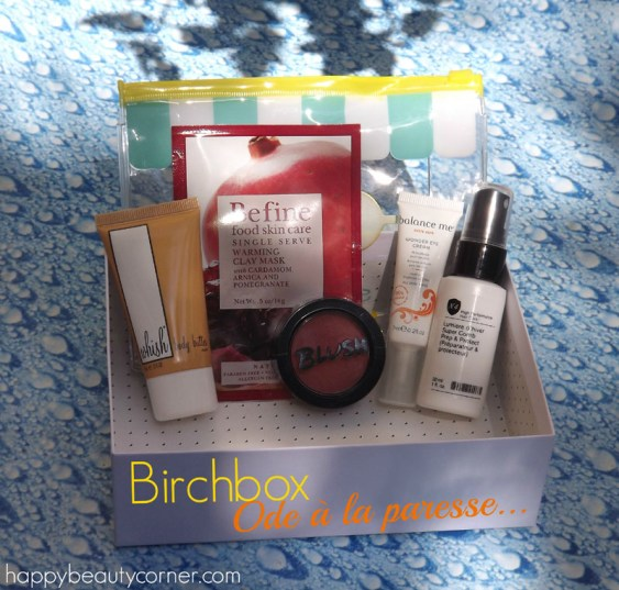 birchbox ode a la paresse