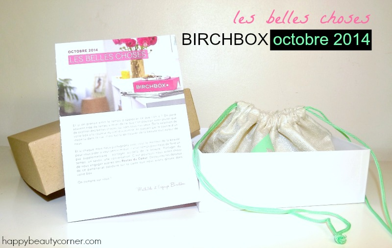 birchbox octobre 2014