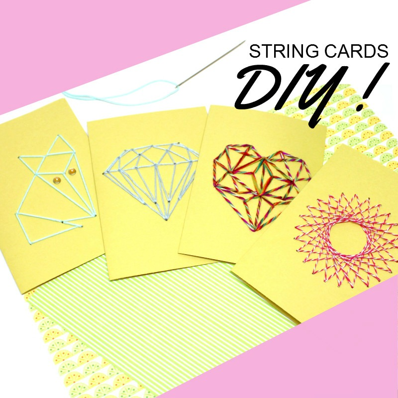 visuel diy string cards