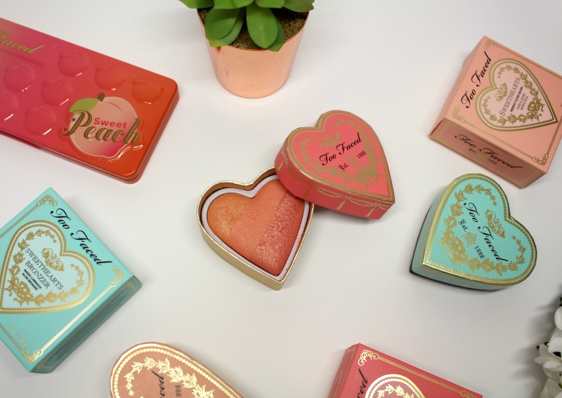too faced sweet peach make up