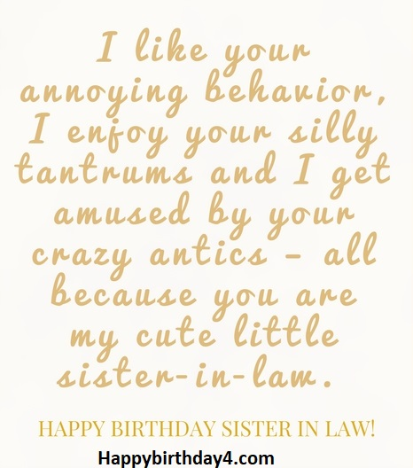 Happy Birthday Wishes For Sister In Law Happy Birthday
