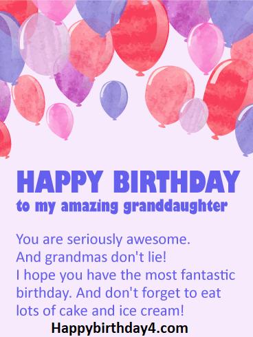 Happy Birthday Granddaughter Happy Birthday