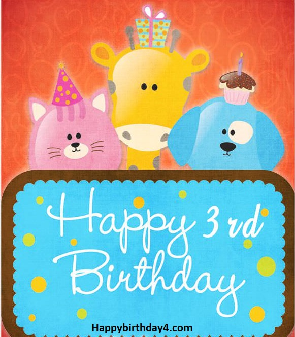 Happy 3rd Birthday Wishes | Birthday Messages For 3 year